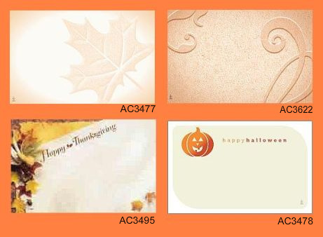 fall enclosure cards