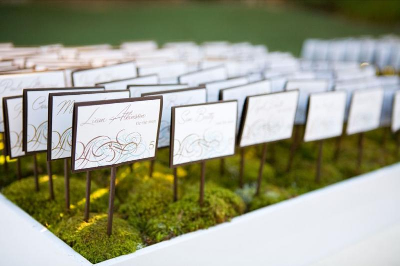Wedding Reception Escort Cards